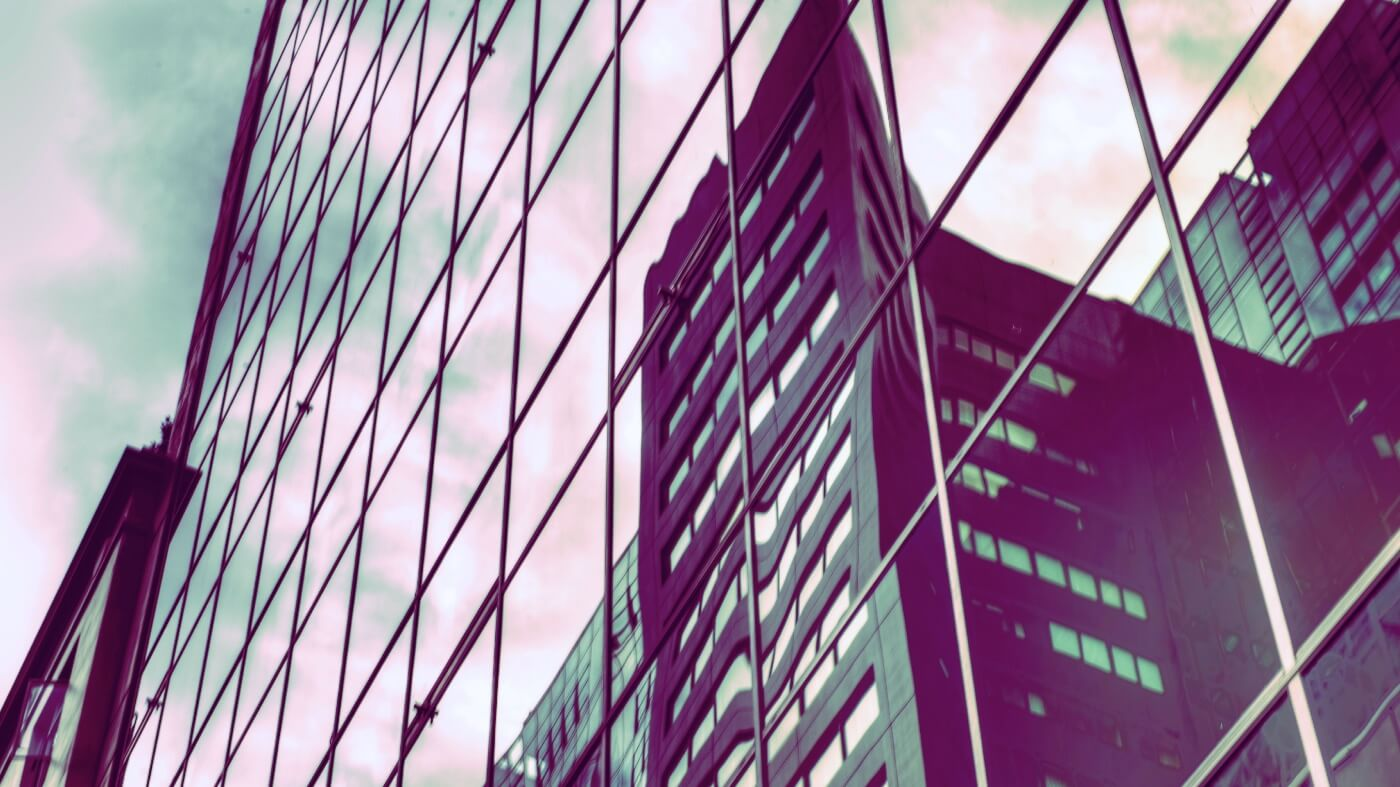 Reflections on Auckland skyscraper