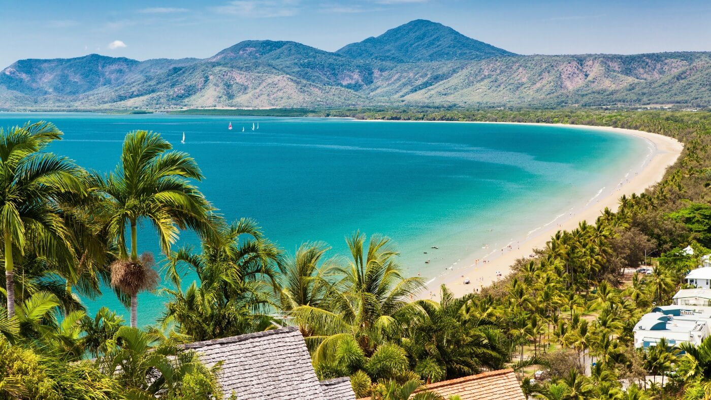 Great barrier reef aerial shot Port Douglas